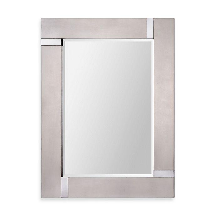 Alternate image 1 for Ren-Wil 30-Inch x 40-Inch Capiz Rectangular Mirror in Silver