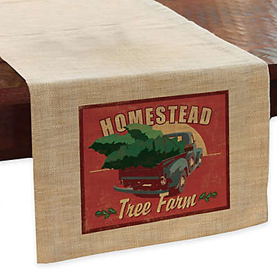 """Heritage Lace® Signs of Christmas """"Evergreen Trees"""" Table Runner"""