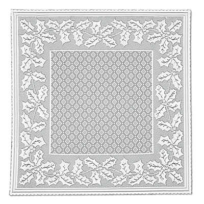 Heritage Lace® Holly Vine Table Topper in White
