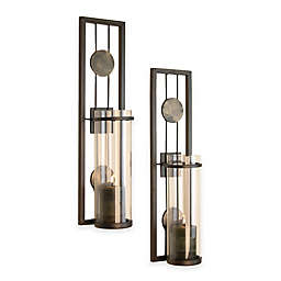 Danya B™ Contemporary Wall Sconce with Medallions (Set of 2)
