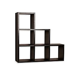 Danya B™ Stepped 6 Cubby Decorative Shelf in Laminated Black