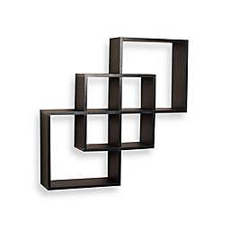 Danya B™ Intersecting Squares Wall Shelf in Laminated Black