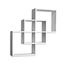 Danya B™ Intersecting Squares Wall Shelf in White