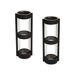 Danya B.™ Metal Stand Glass Cylinder Vases (Set of 2)