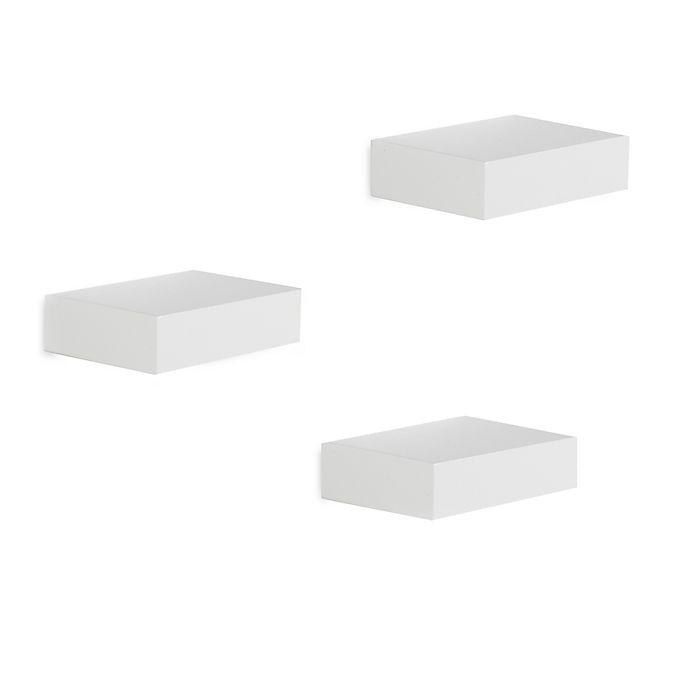 Alternate image 1 for Umbra® Showcase Shelves in White (Set of 3)