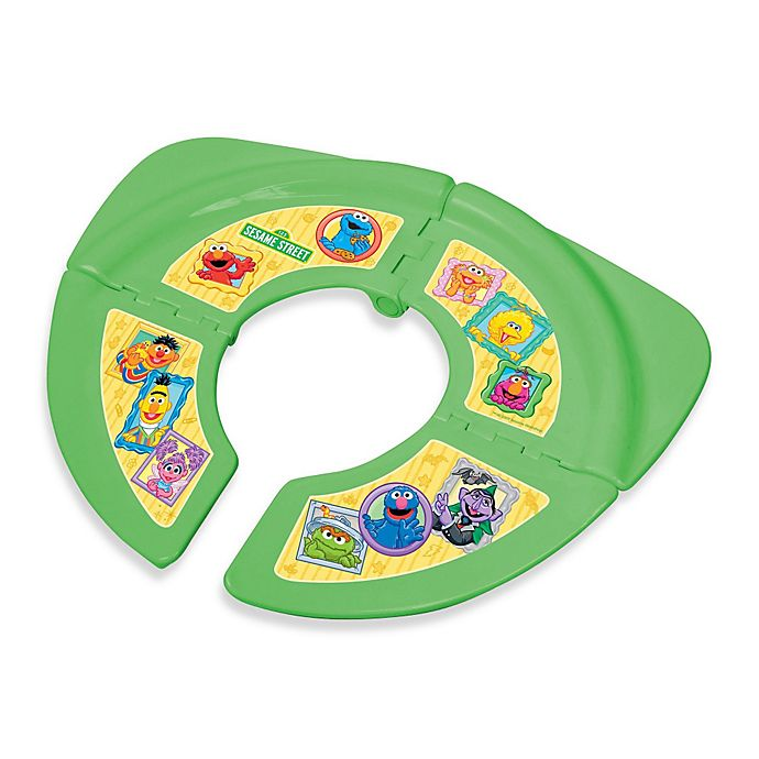 Alternate image 1 for Ginsey Sesame Street Folding Travel Potty Seat