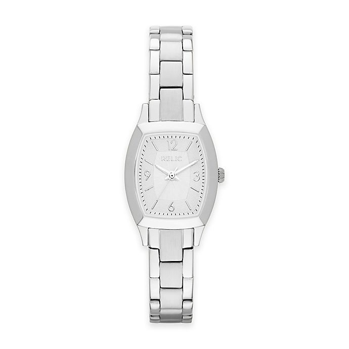 Alternate image 1 for Relic by Fossil Everly Ladies 20.5mm Rectangular Dial Watch in Silvertone Stainless Steel