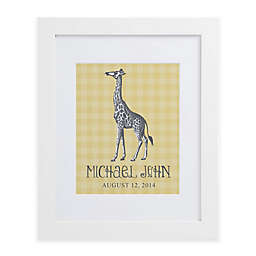 Sweet Giraffe Framed Wall Print