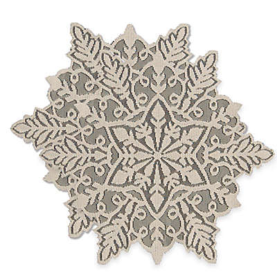 Heritage Lace® Snowflake Doilies in Silver (Set of 2)