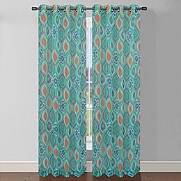 Olina Printed Sheer Window Curtain Panel