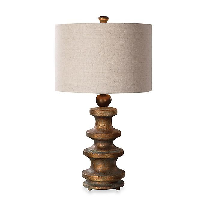 Uttermost Guadalete Antiqued Gold Table Lamp Bed Bath Beyond