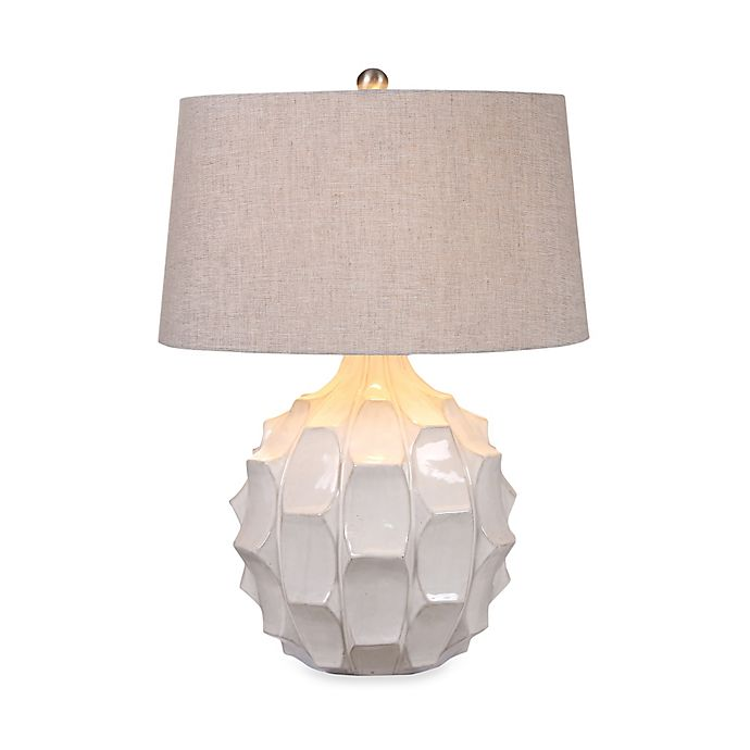 Alternate image 1 for Uttermost Guerina White Ceramic Table Lamp