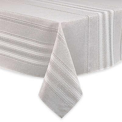 Brilliant Holiday Stripe Tablecloth