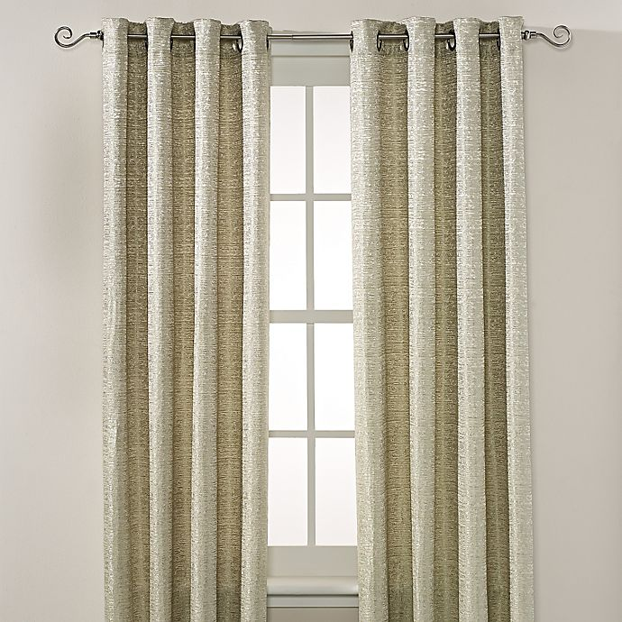 Alternate image 1 for Montclair 63-Inch Grommet Top Window Curtain Panel in Green