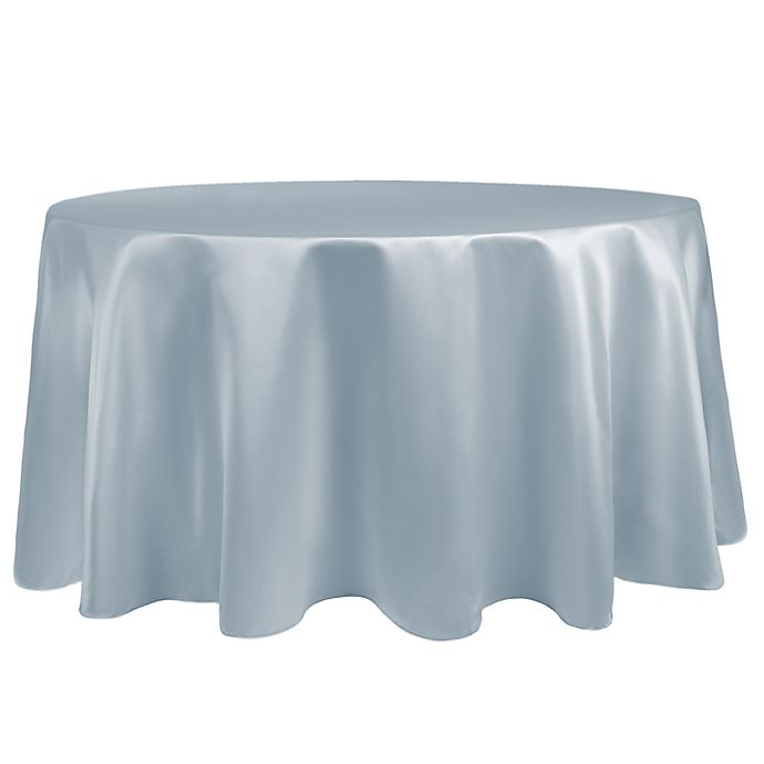 Alternate image 1 for Duchess 90-Inch Round Tablecloth in Ice Blue