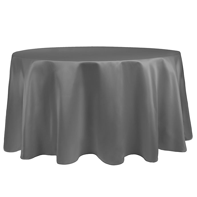 Alternate image 1 for Duchess 108-Inch Round Tablecloth in Pewter