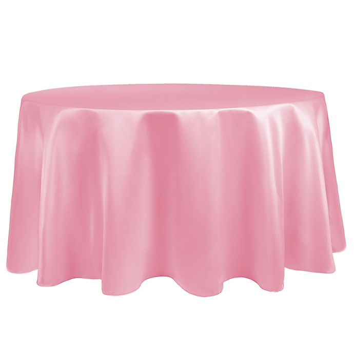 Alternate image 1 for Duchess 90-Inch Round Tablecloth in Peppermint Pink