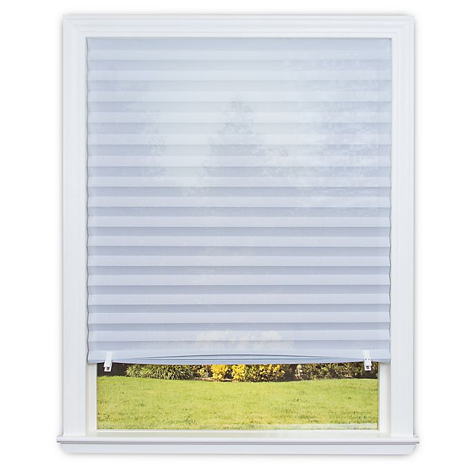 Alternate image 1 for Redi Shade Sheer View™ Cordless UV-Blocking 36-Inch x 72-Inch Solar Pleated Shade in White