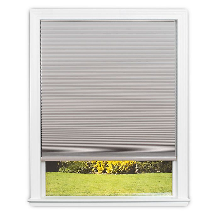 Alternate image 1 for Redi Shade Easy Lift Cordless Cellular 64-Inch Length Blackout Shade