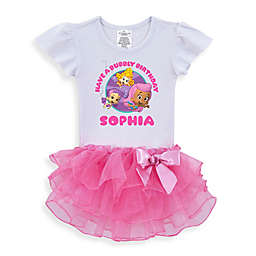 "Nickelodeon™ ""Bubble Guppies"" ""Have a Bubbly Birthday"" Tutu T-Shirt in White/Pink"