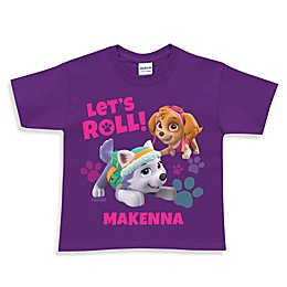 "Nickelodeon™ ""PAW Patrol"" Skye and Everest ""Let's Roll"" T-Shirt in Purple"