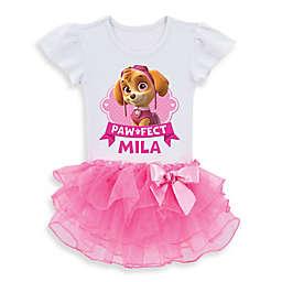 """Nickelodeon™ """"Paw Patrol"""" """"Paw-fect"""" Skye Tutu T-Shirt in White/Pink"""