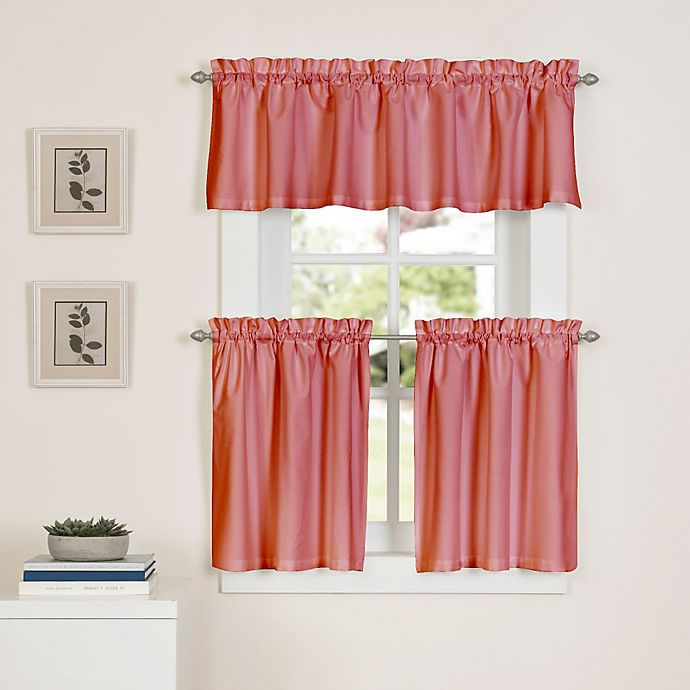 Alternate image 1 for Newport 36-Inch Kitchen Window Curtain Tier Pair in Coral