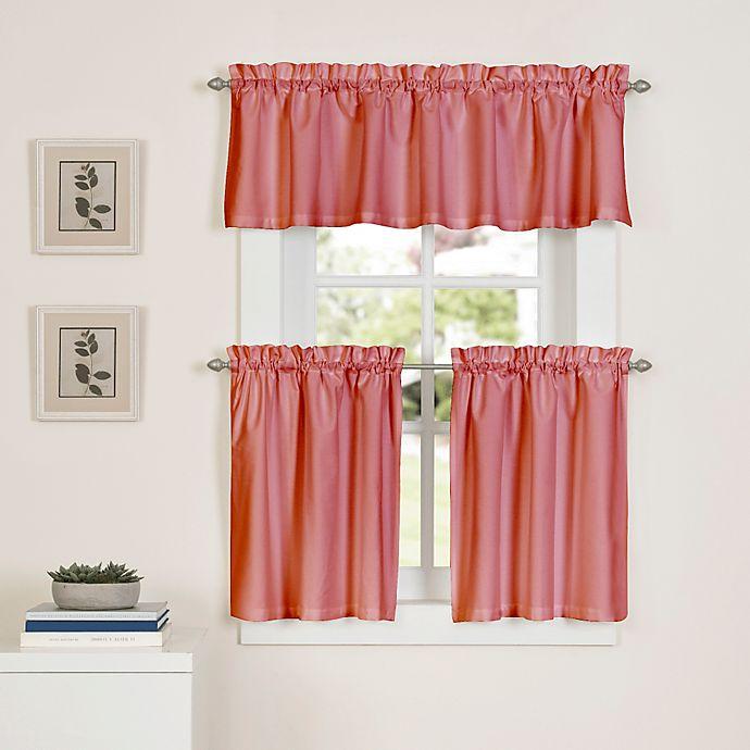 Newport Kitchen Window Curtain Tier Pair