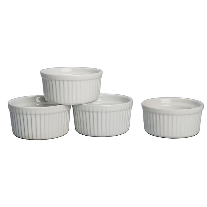Alternate image 1 for Porcelain 8 oz. Ramekin Bowls (Set of 4)