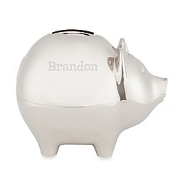 Silver Piggy Bank for Him
