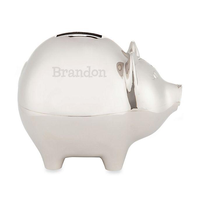 Alternate image 1 for Silver Piggy Bank for Him