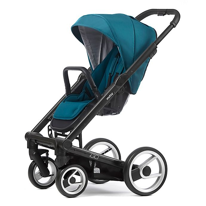 Alternate image 1 for Mutsy Igo Stroller in Black/Aqua