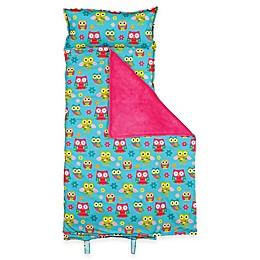 Stephen Joseph® Allover Owl Print Nap Mat in Turquoise/Pink