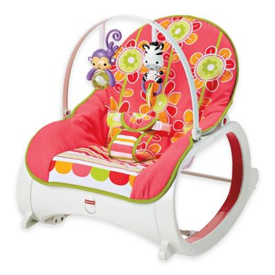 Fisher Price Infant To Toddler Rocker In Floral Confetti