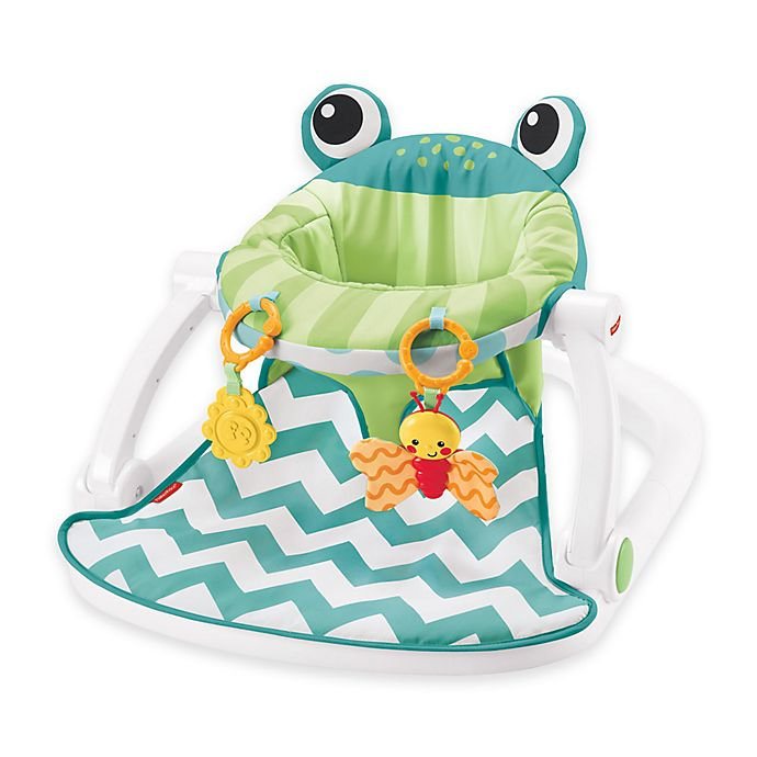 Alternate image 1 for Fisher-Price® Sit-Me-Up Frog Floor Seat in Citrus