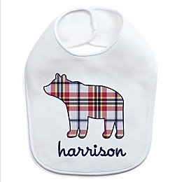 Plaid Bear Bib
