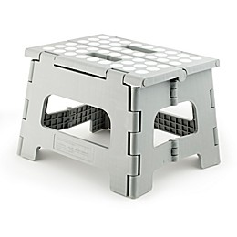 Kikkerland Design Rhino II Step Stool in Grey