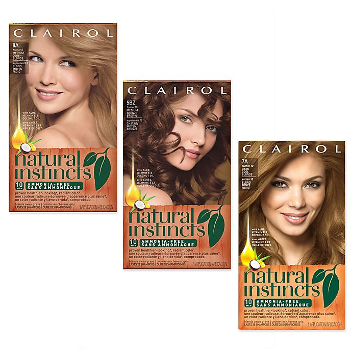 Clairol Natural Instincts Ammonia Free Semi Permanent Color Bed
