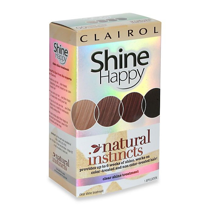 Clairol Natural Instincts Shine Happy Clear Shine Treatment Bed