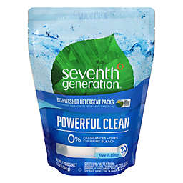 Seventh Generation® 20-Count Free and Clear Dishwasher Detergent Packs