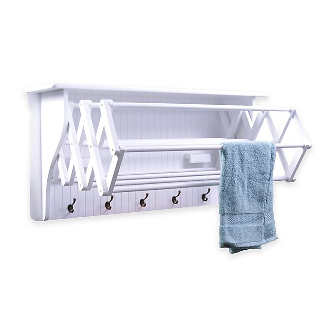 Alternate image 1 for Accordion Drying Rack in White