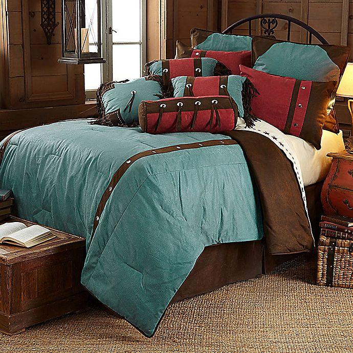 HiEnd Accents Cheyenne Bedding Set in Turquoise   Bed Bath & Beyond