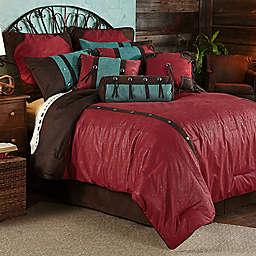 HiEnd Accents Cheyenne Bedding Set in Red