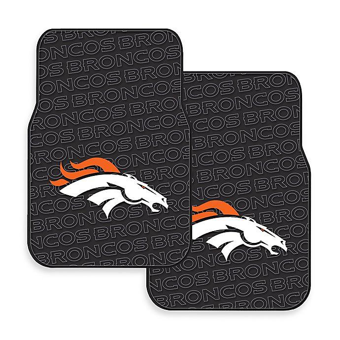 Nfl Denver Broncos Rubber Car Mats Set Of 2 Bed Bath