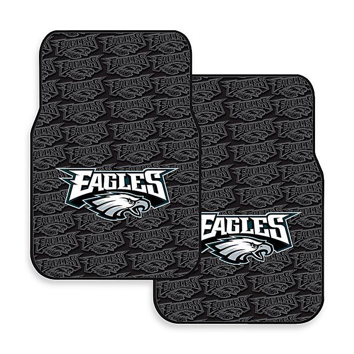 Nfl Philadelphia Eagles Rubber Car Mats Set Of 2 Bed
