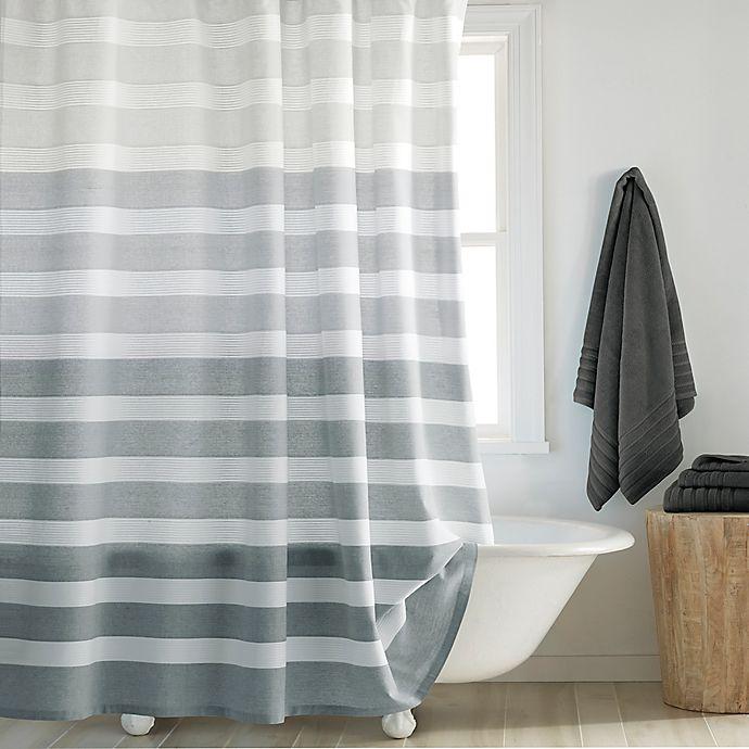 Alternate image 1 for DKNY Highline Stripe Shower Curtain
