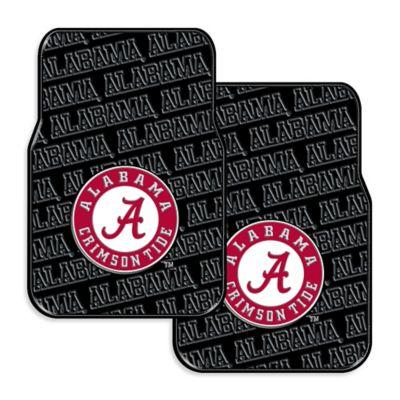 University Of Alabama Rubber Car Floor Mats Set Of 2