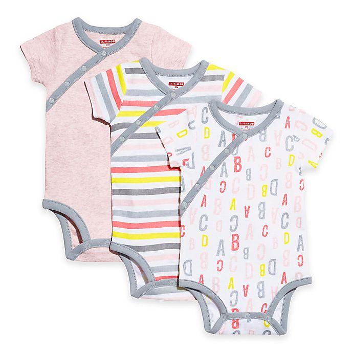 15feba69e5f9 SKIP HOP® ABC-123 Preemie 3-Pack Side Snap Short Sleeve Bodysuits in ...