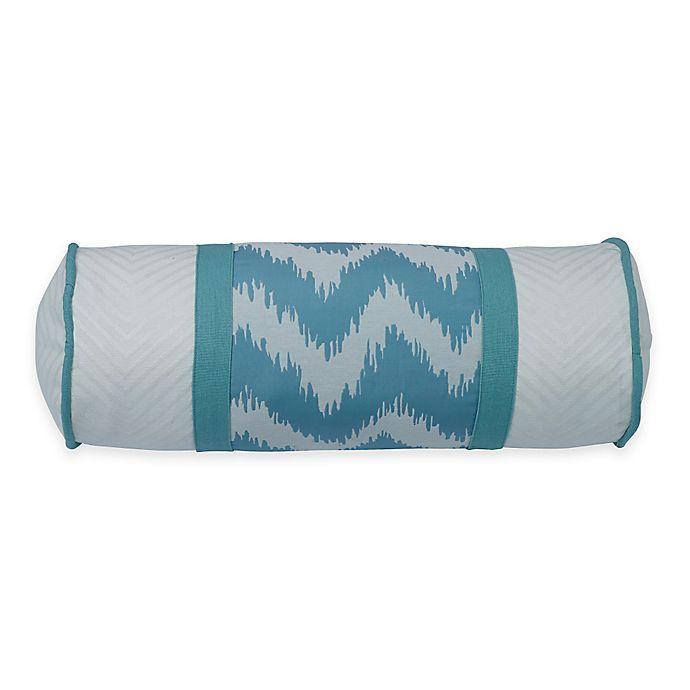 Brilliant Hiend Accents Catalina Neckroll Throw Pillow In Aqua White Frankydiablos Diy Chair Ideas Frankydiabloscom