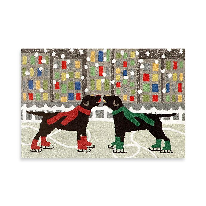 Holiday Dogs On Ice Indoor Outdoor Rugs Bed Bath Amp Beyond